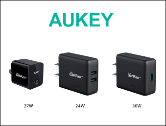 The Gadgeteer – Aukey PD and PD/Gan Wall Chargers review