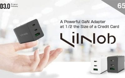 LilNob:A Powerful GaNFast Powered Adapter at 1/2 Size of a Credit Card
