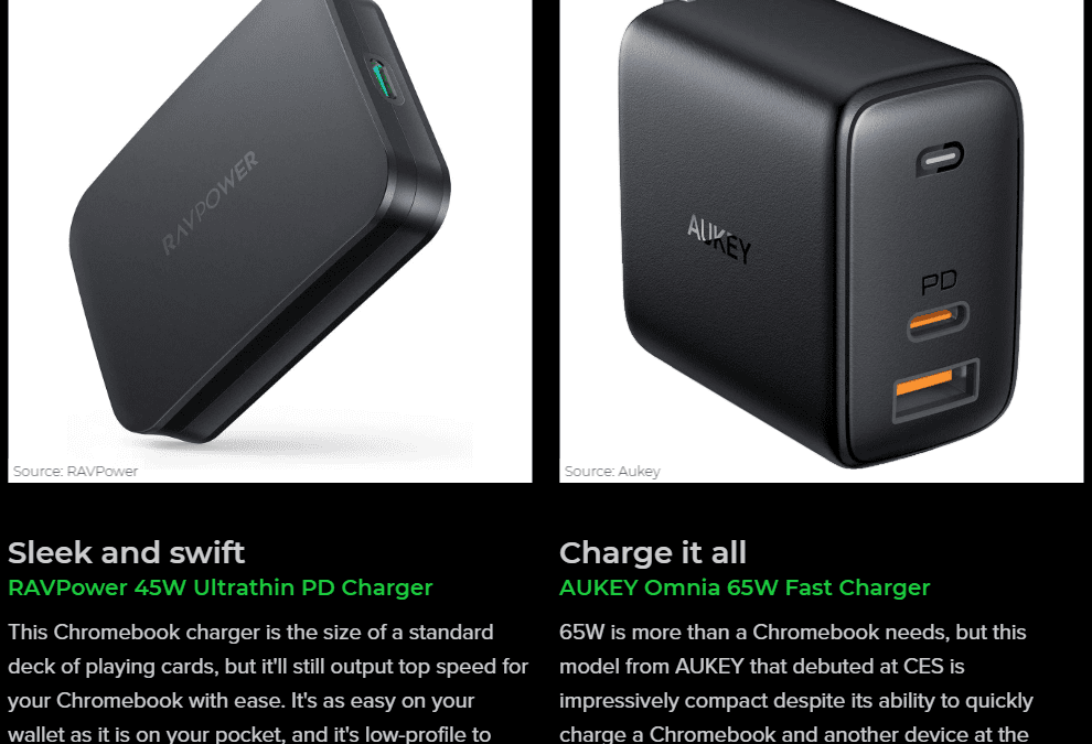 AndroidCentral – Best Replacement USB-C Chromebook Chargers in 2020