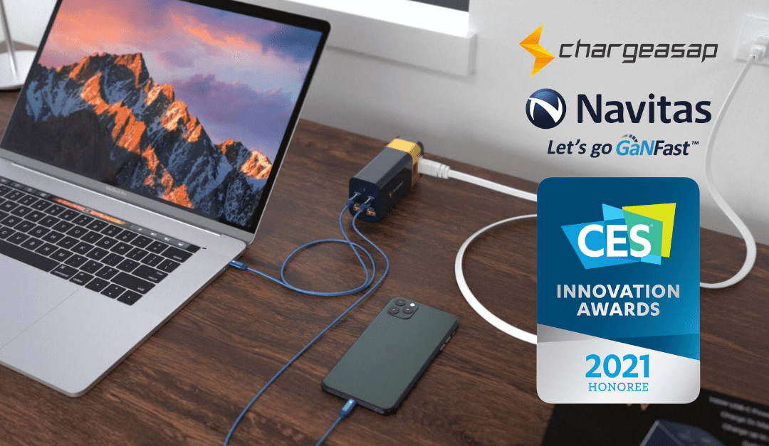 Chargeasap Omega: World's Most Powerful Multi-port GaNFast Charger named as CES 2021 Innovation Awards Honoree