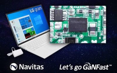 LG Electronics Adopts Navitas GaNFast™ For World's Lightest Laptop