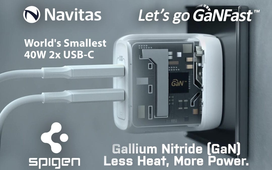 Navitas Drives Spigen's ArcStation Pro 45W: World's Smallest Samsung S21 Ultra Fast Charger