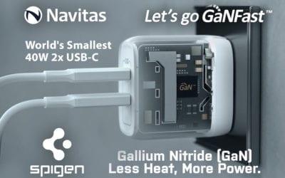 Navitas Drives Spigen's ArcStation Pro 45W: World's Smallest Samsung S21 Ultra Fast Charger