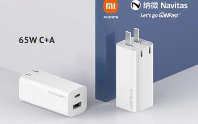 主标题:小米纳微三度携手,小米 65W 1A1C 氮化镓充电器发布!